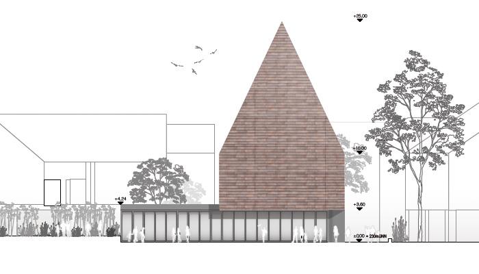 Ansicht neues Verbandsgemeidehaus Montabaur